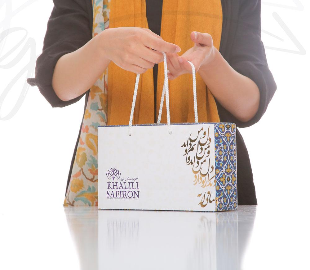 طراحی بسته بندی لوکس زعفران