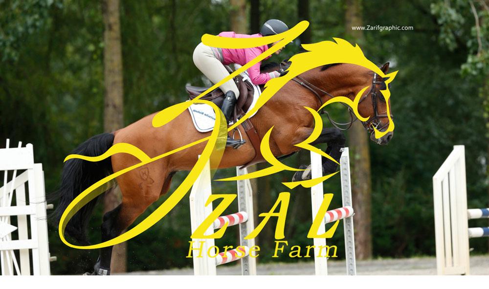 Professional design of equestrian club in zarif graphic