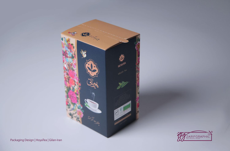 طراحی بسته بندی چای هویاتی و عکاسی تبلیغاتی و صنعتی در ظریف گرافیک