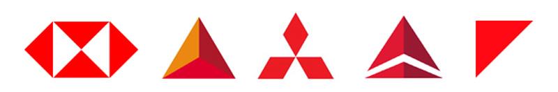 مفهوم شکل های هندسی مثلث در آرم