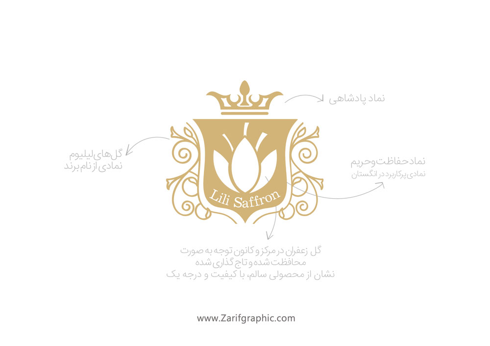 Luxury logo design in zarifgraphic