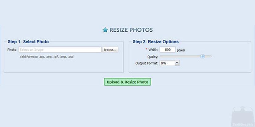 فشرده سازی تصاویر با resize photos