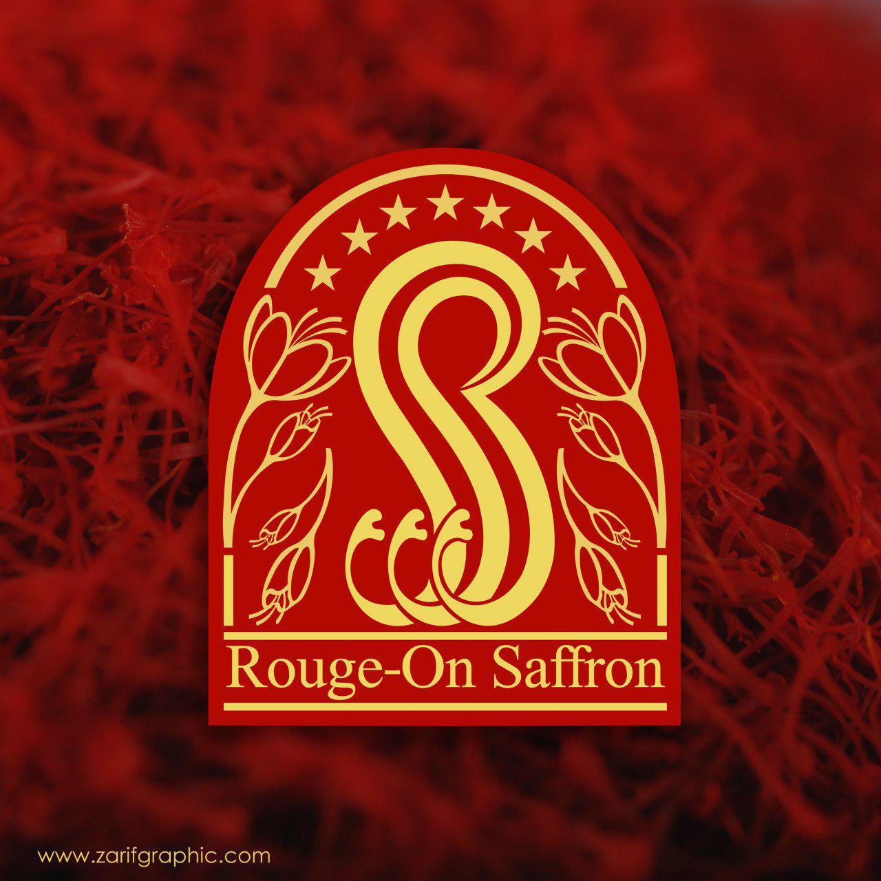 طراحی لوگوی زعفران روژان دبی توسط ظریف گرافیک