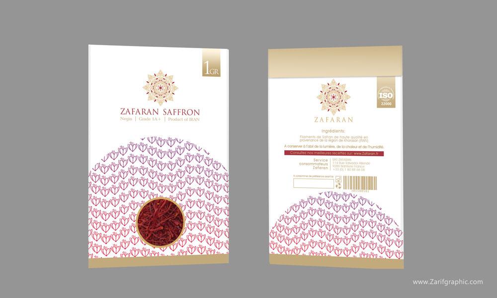 طراحی خلاقانه و حرفه ای بسته بندی زعفران