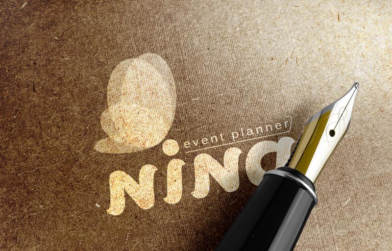 طراحی لوگو تشریفات نینا هاشمی با ظریف گرافیک