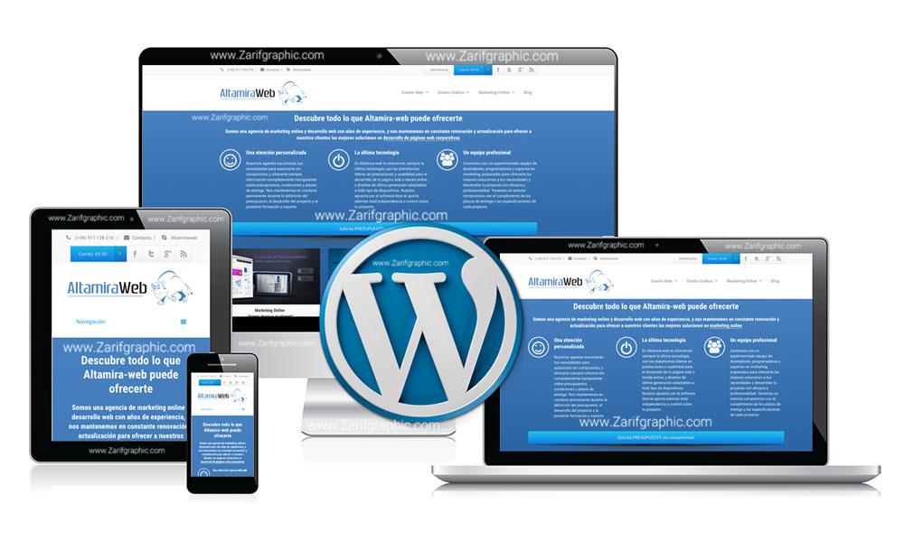 طراحی سایت با ورد پرس