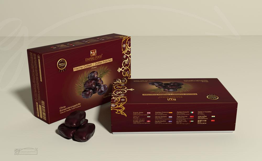 نمونه طراحی جعبه خرما