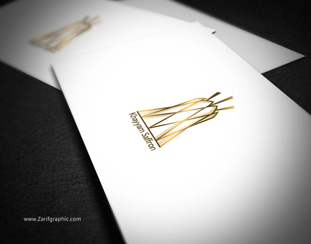 طراحی-لوگو-شیک-و-خلاقانه-زعفران-در-ظریف-گرافیک