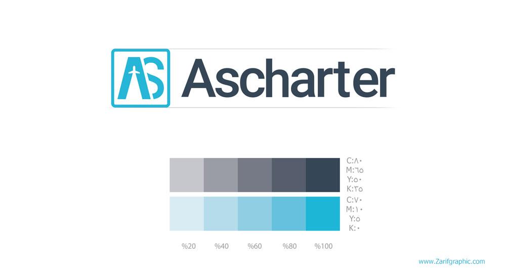 طراحی لوگو حرفه ای آژانس مسافرتی آس چارتر در مشهد با ظریف گرافیک