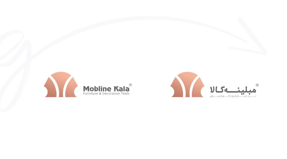 طراحی لوگو فروشگاه اینترنتی مبلینه