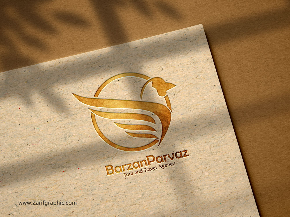 طراحی لوگو برزان پرواز