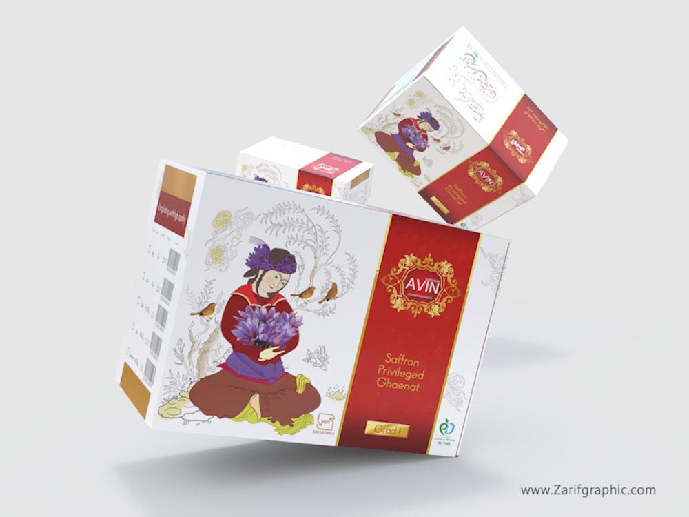طراحی-بسته-بندی-زعفران-در-ظریف-گرافیک