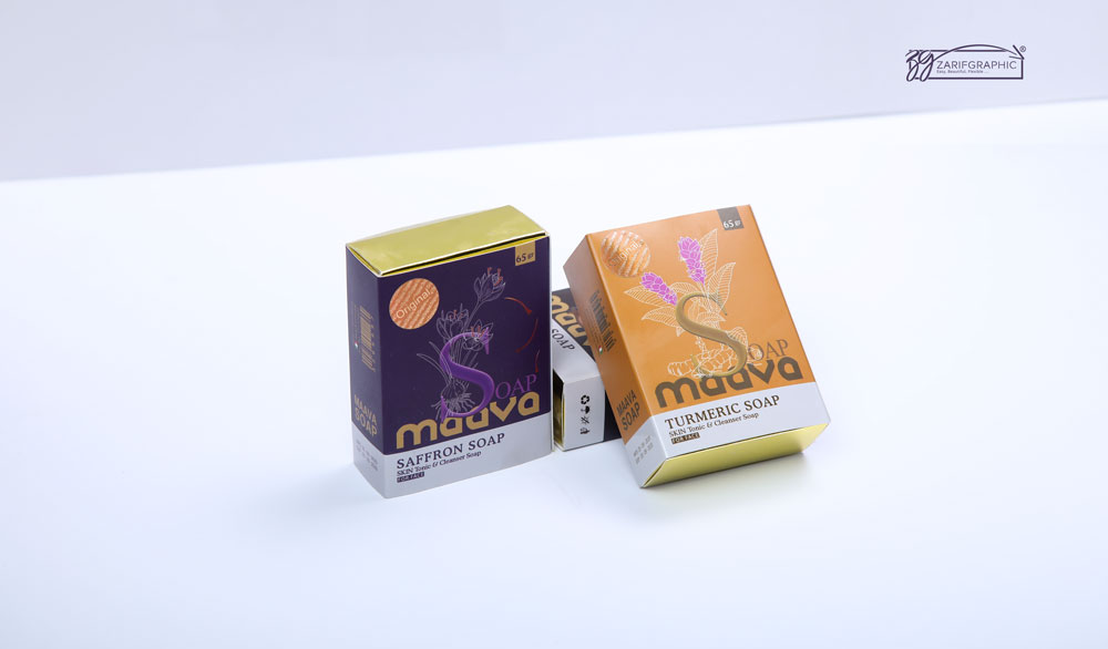 Packaging design of Mava cosmetic soap