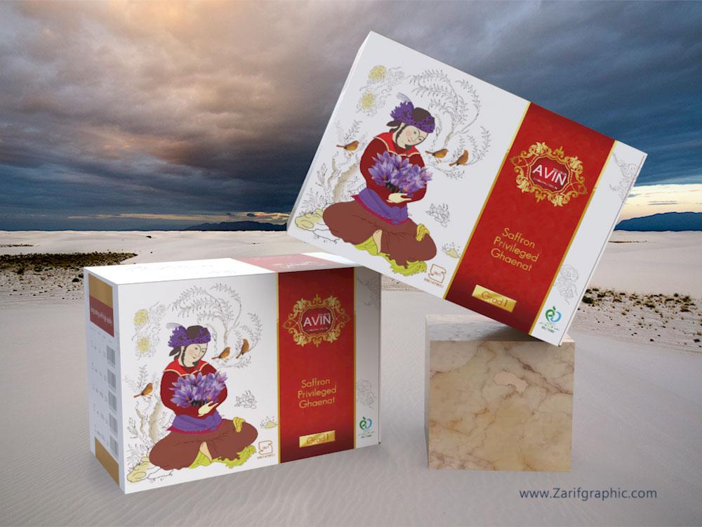طراحی اختصاصی بسته بندی زعفران