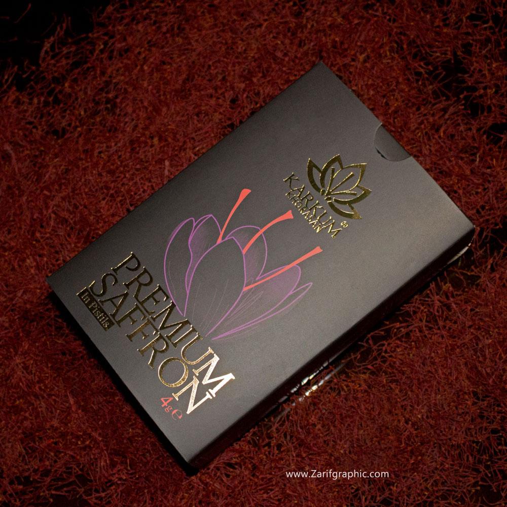 طراحی حرفه ای بسته بندی زعفران کرکوم خراسان در ایتالیا