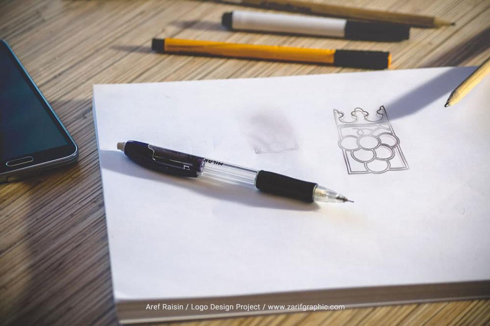 طراحی لوگو کشمش عارف در مشهد