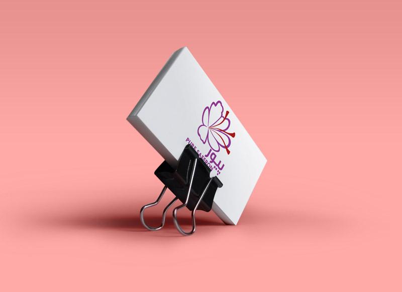 طراحی لوگو زعفران پیور در ظریف گرافیک خلاقانه و حرفه ای