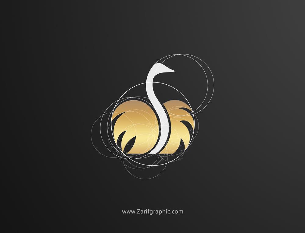 طراحی لوگو شترمرغ در ظریف گرافیک