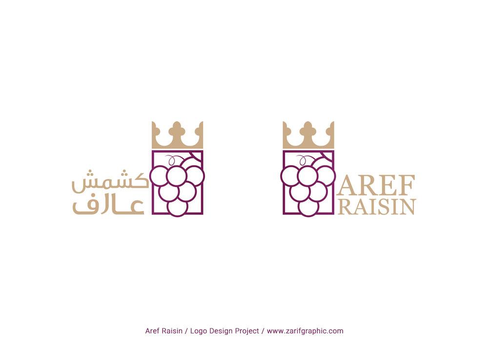 Creative design of commercial raisin logo