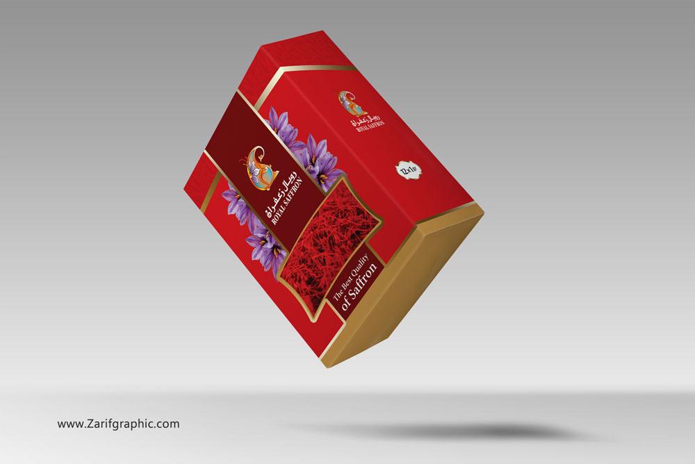 طراحی-بسته-بندی-زعفران-رویال-عمان-در-ظریف-گرافیک