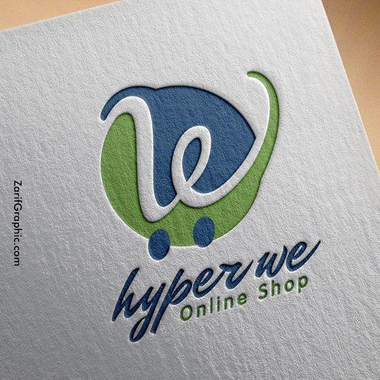 طراحی لوگو فروشگاه وی مارکت