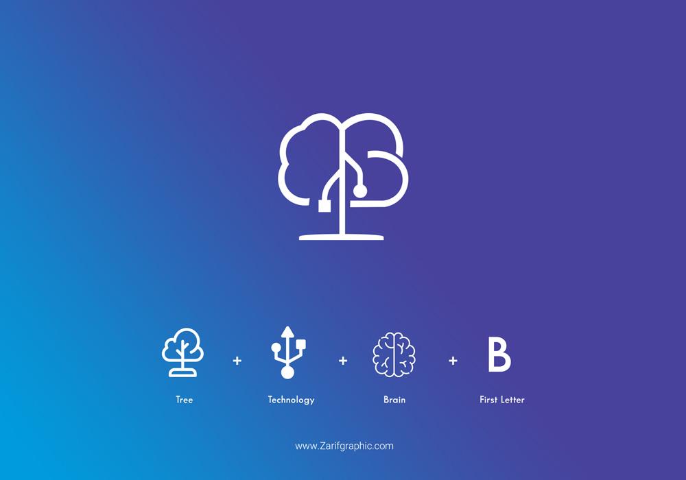 طراحی خلاقانه لوگو شرکت نرم افزاری و خدمات الکترونیکی برنا در مشهد با ظریف گرافیک
