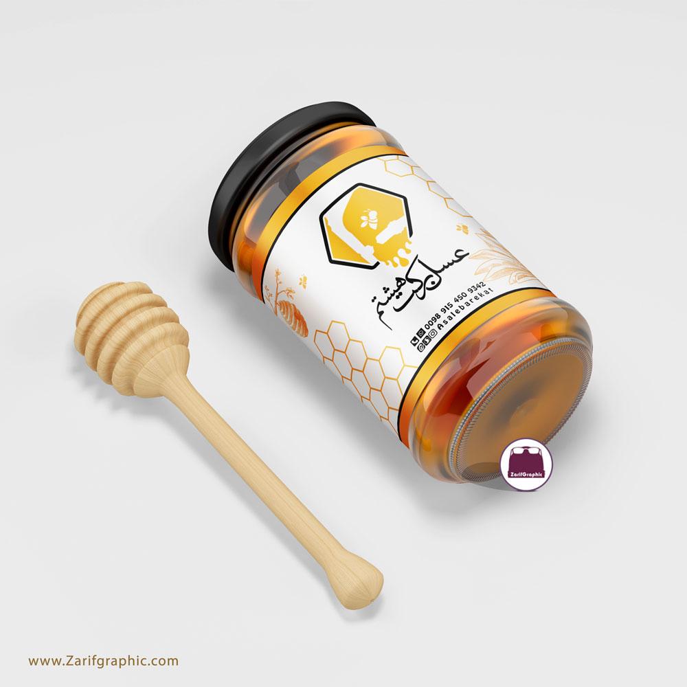 طراحی لیبل عسل در مشهد با ظریف گرافیک