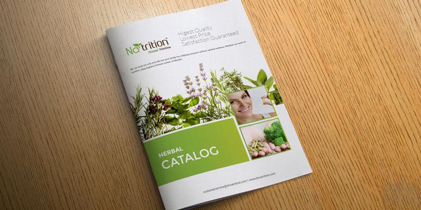 طراحی کاتالوگ ظریف گرافیک