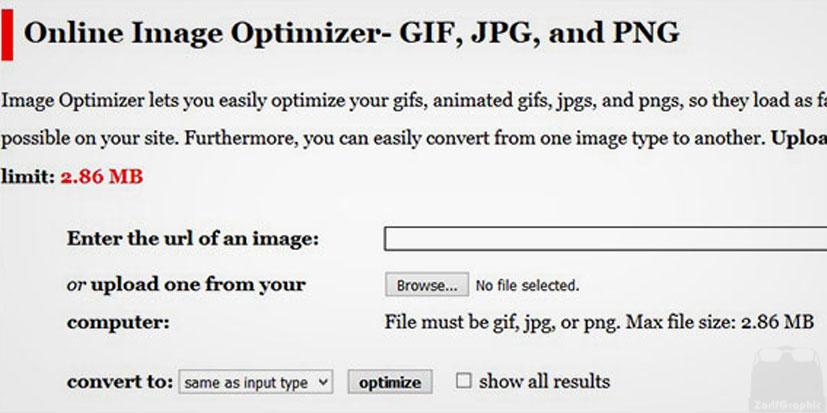فشرده سازی تصاویر با online image optimizer
