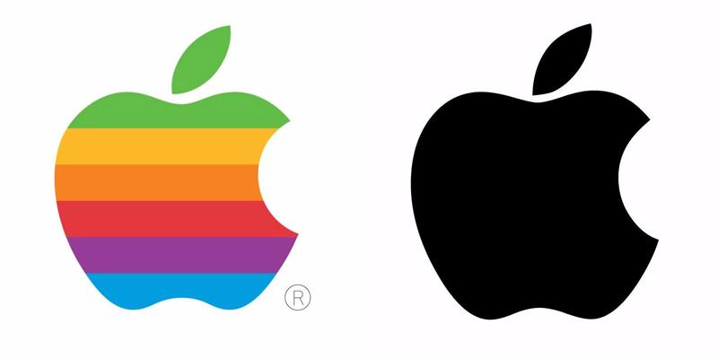 طراحی مجدد لوگوی محصولات اپل
