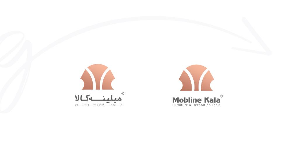 لوگوی فارسی و انگلیسی mobline kala