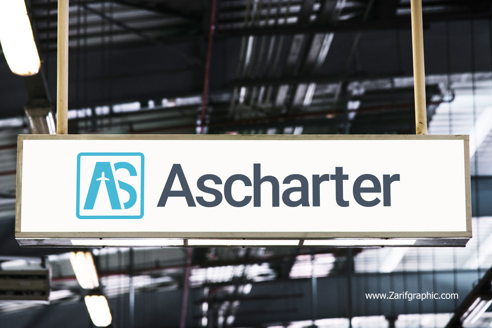 Professional design of As charter airline logo in Mashhad