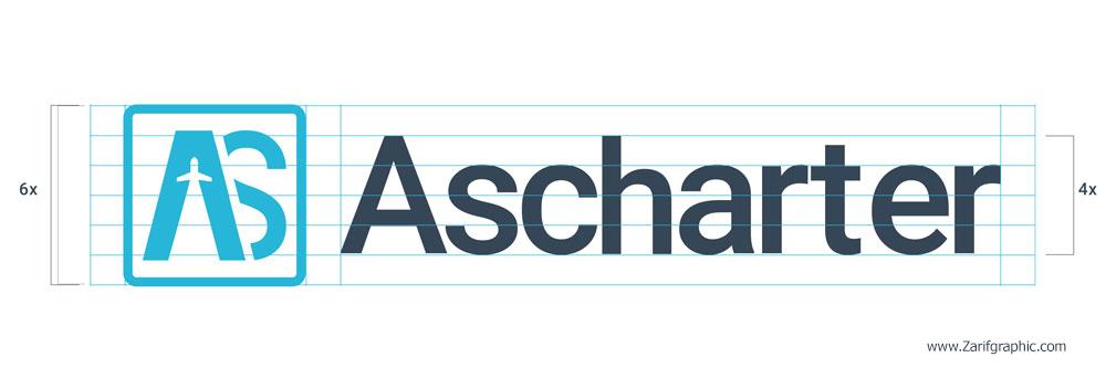طراحی لوگو خلاقانه آژانس مسافرتی آس چارتر