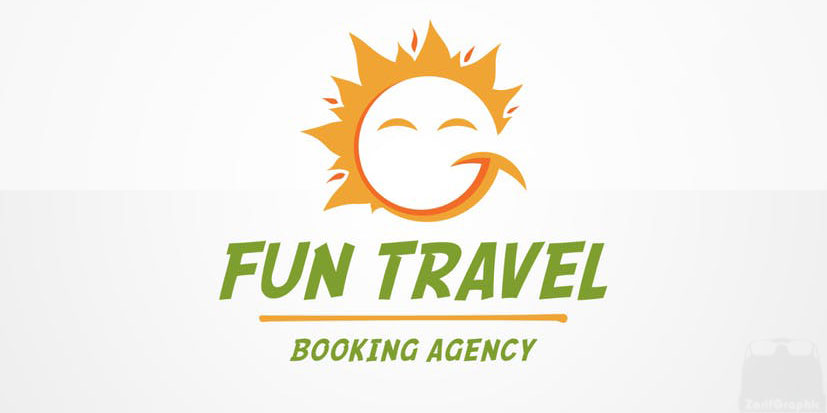 طراحی لوگو خلاقانه آژانس مسافرتی