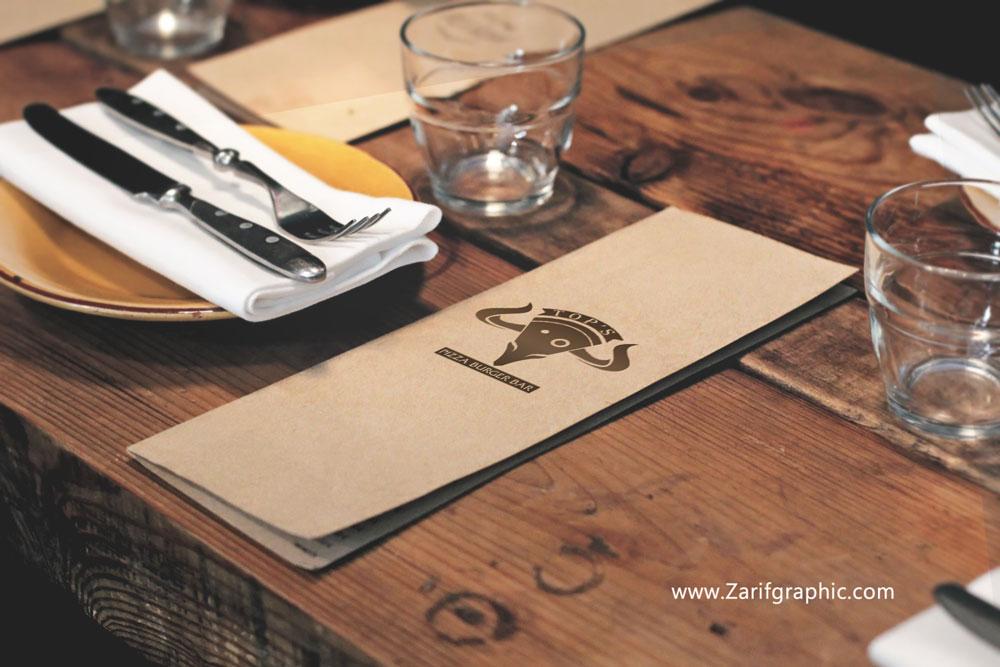 طراحی تخصصی لوگو رستوران در مشهد Top's اسلوونی