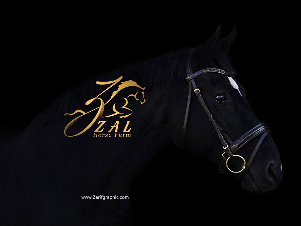 Logo design of horse breeding center in Mashhad