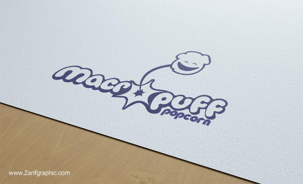 طراحی لوگو خلاقانه پاپ کورن ماکروپف در ظریف گرافیک