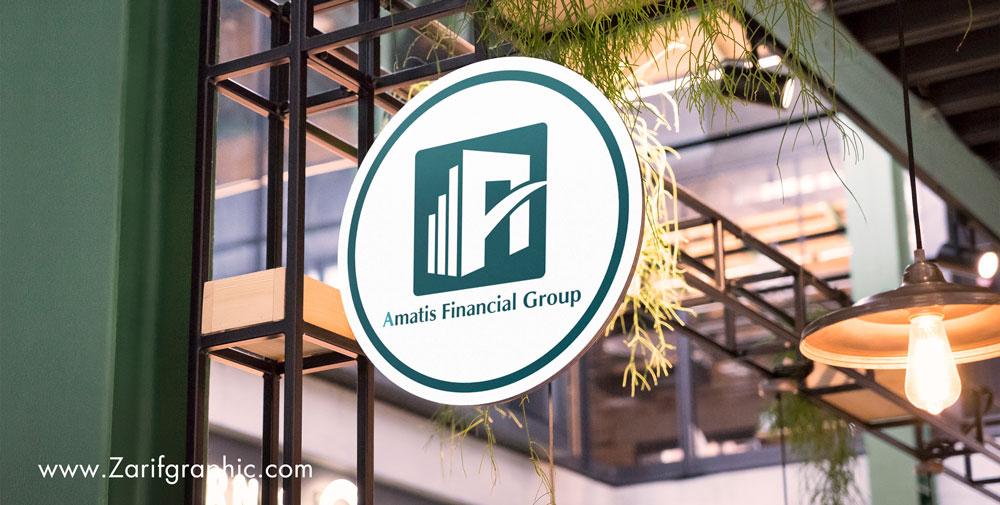طراحی خاص لوگو شرکت حسابداری توسط ظریف گرافیک
