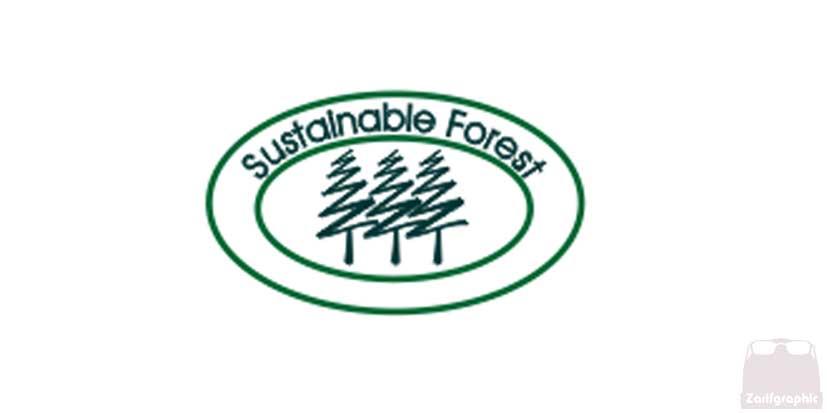 چوب جنگل های ماندگار روی بسته بندی محصولات