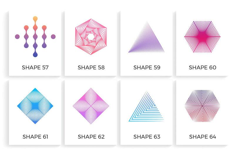طراحی لوگو با اشکال هندسی