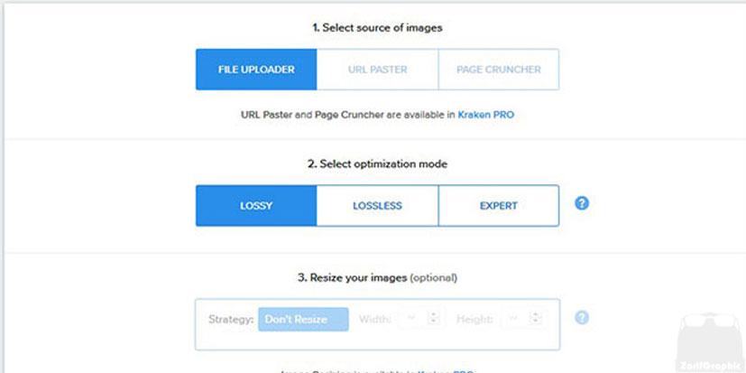 بهینه سازی تصاویر با kraken.io