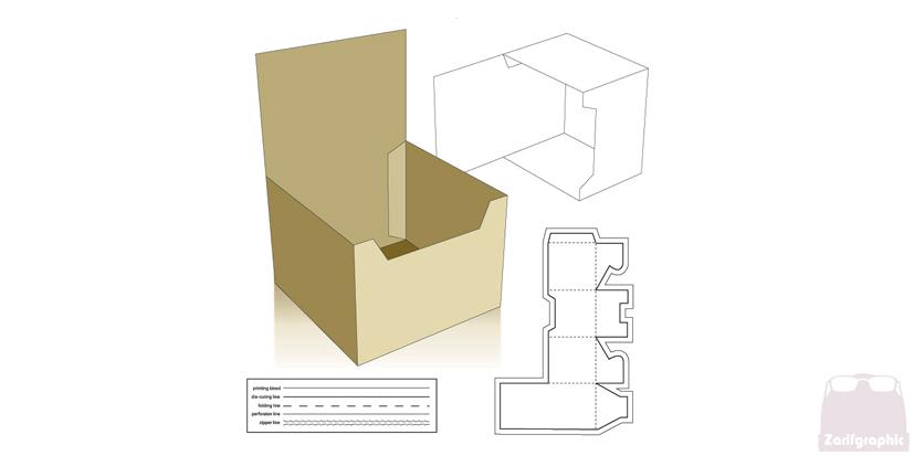 طراحی حرفه ای قالب بسته بندی