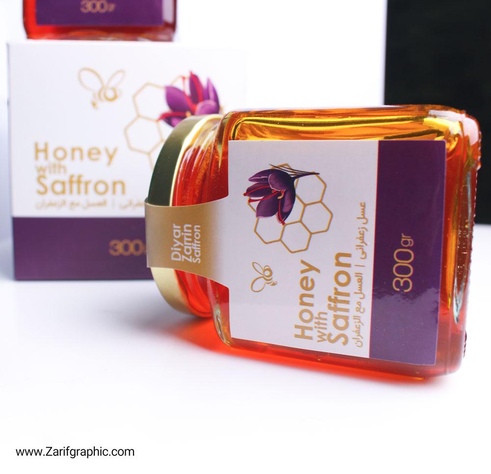 طراحی لیبل عسل