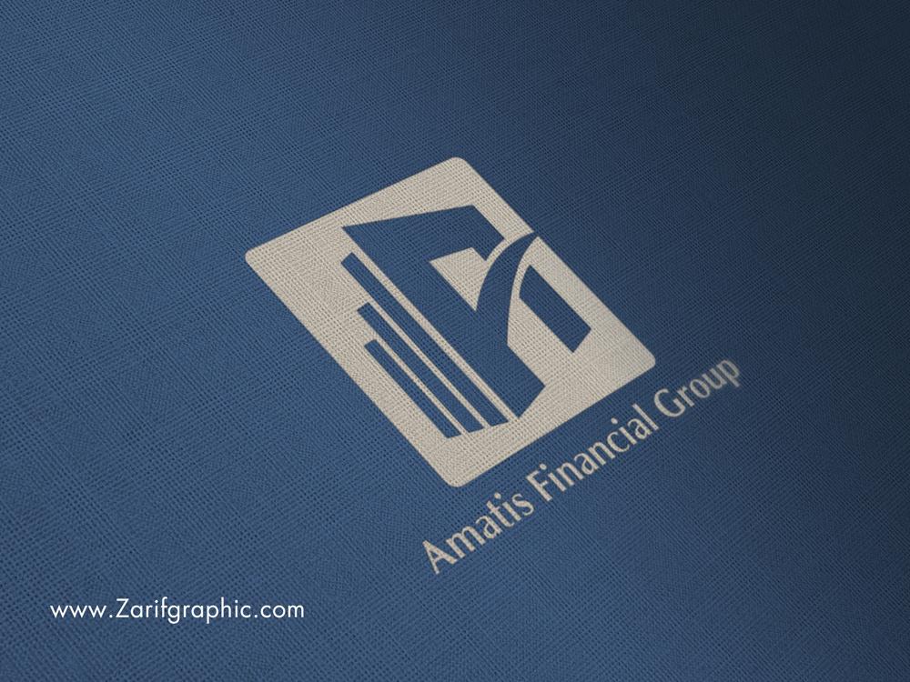 طراحی لوگو گروه مالی آماتیس