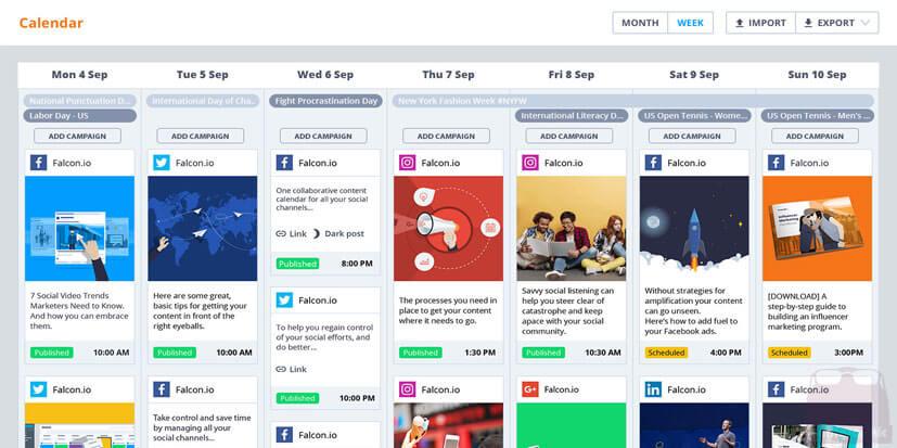 تقویم سردبیری یا تقویم محتوایی برای شبکه های اجتماعی