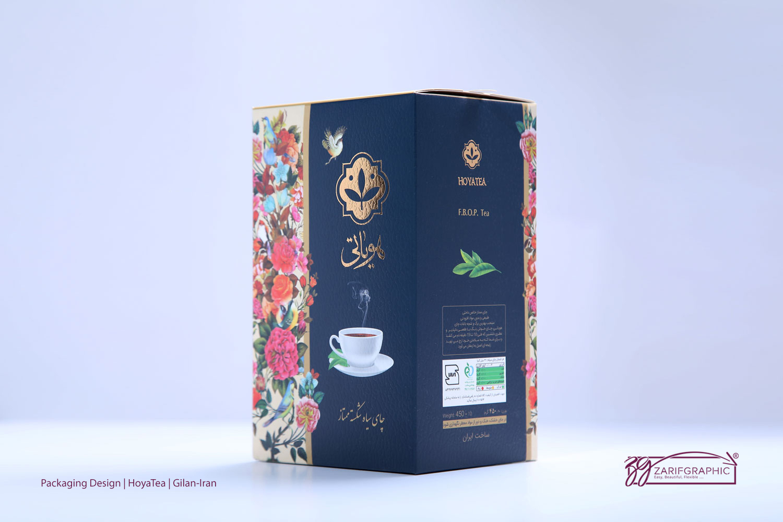 طراحی خلاقانه بسته بندی چای هویاتی