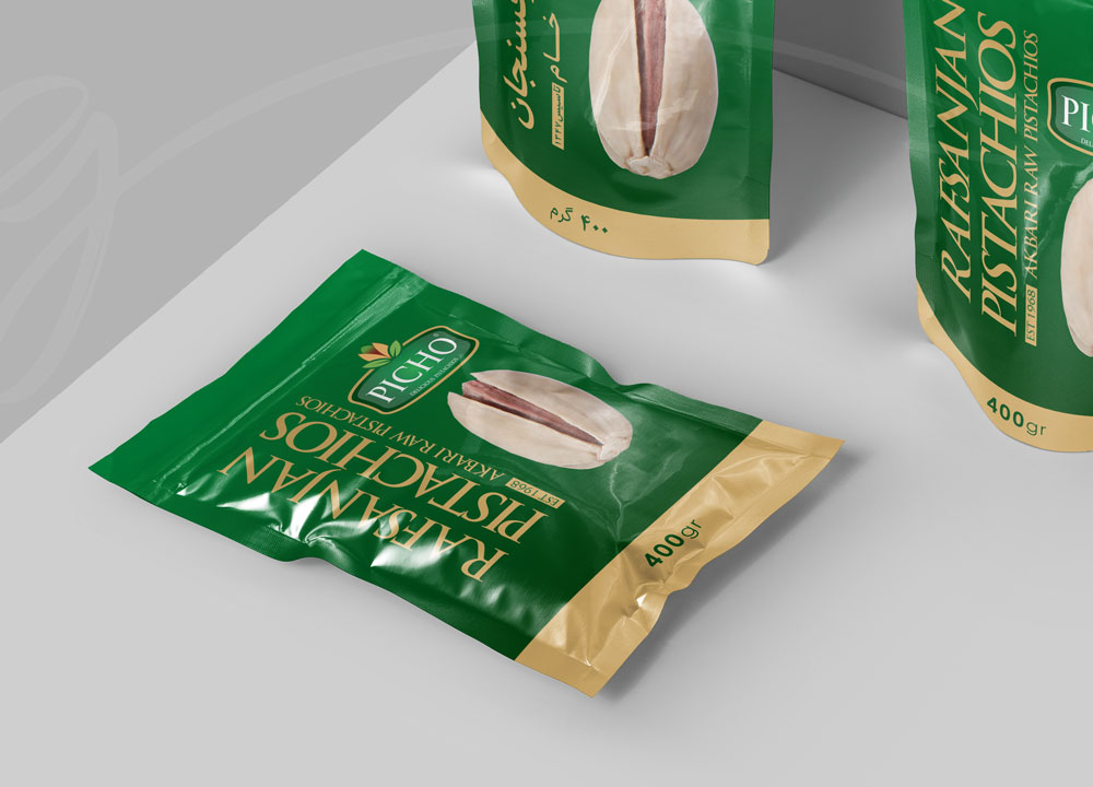 nut packaging design in zarifgraphic