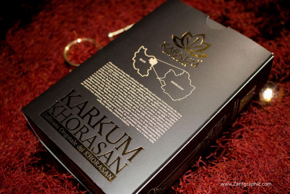 طراحی خلاقانه بسته بندی زعفران در ایتالیا کرکوم خراسان