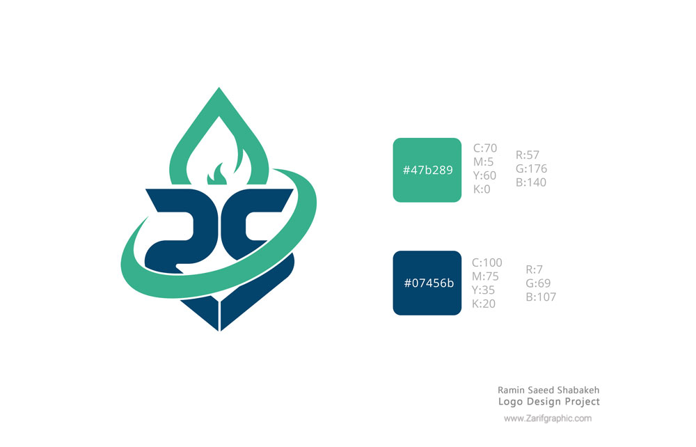 Logo design of refinery and petroleum products in Mashhad