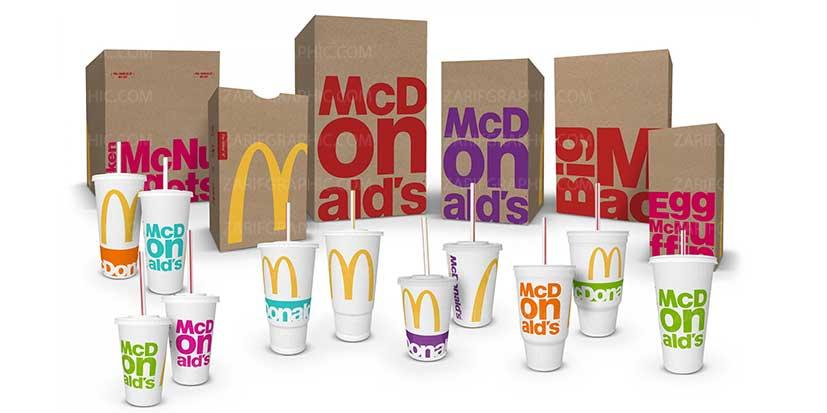 رنگ ها در طراحی لوگو و بسته بندی مک دونالد